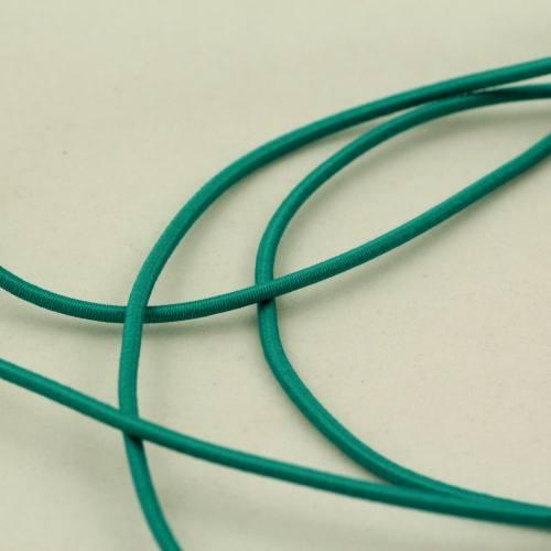 Cordon élastique 2 mm vert d'eau