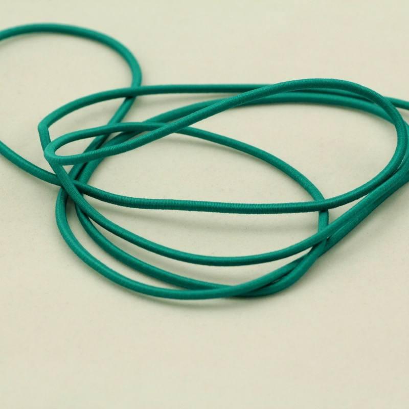 Cordon élastique 3 mm - vert d'eau