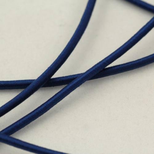 Cordon élastique 3 mm - bleu marine