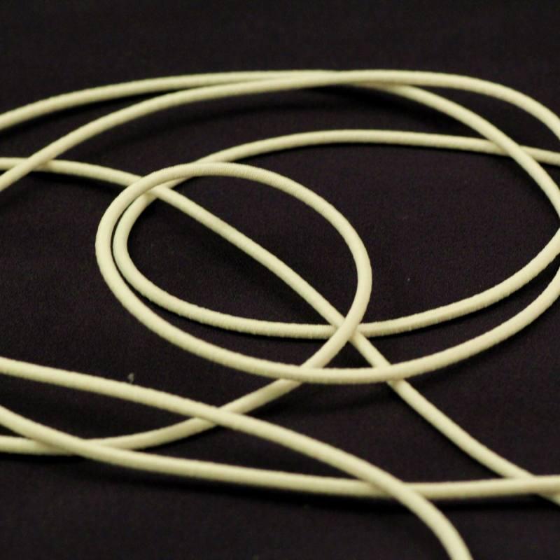 Cordon élastique 2 mm ivoire
