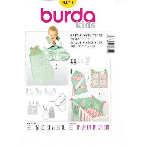 Patron N°9479 Burda Kids: Ensemble bébé Taille : 1-18 mois