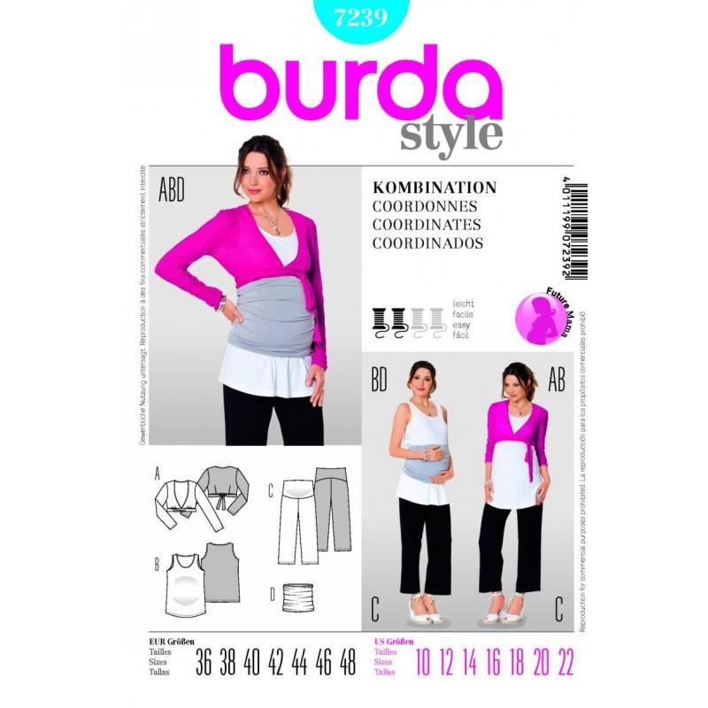 Patron N°7239 Burda Future maman : Coordonnés Taille : 36-48