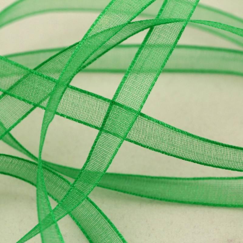 Ruban de mousseline 6mm - vert
