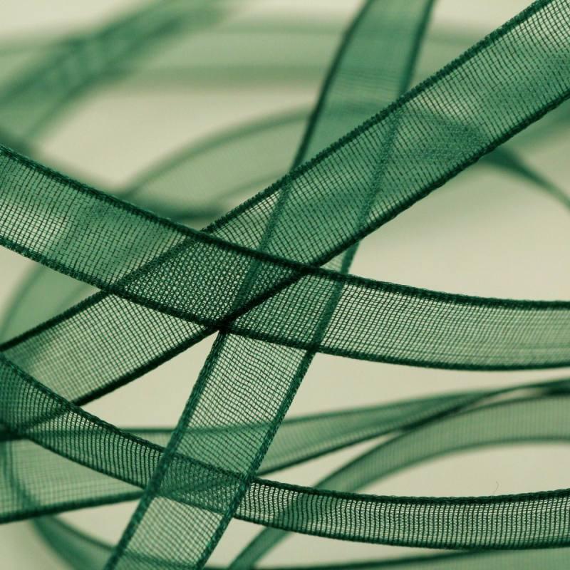 Ruban de mousseline 6mm - vert forêt
