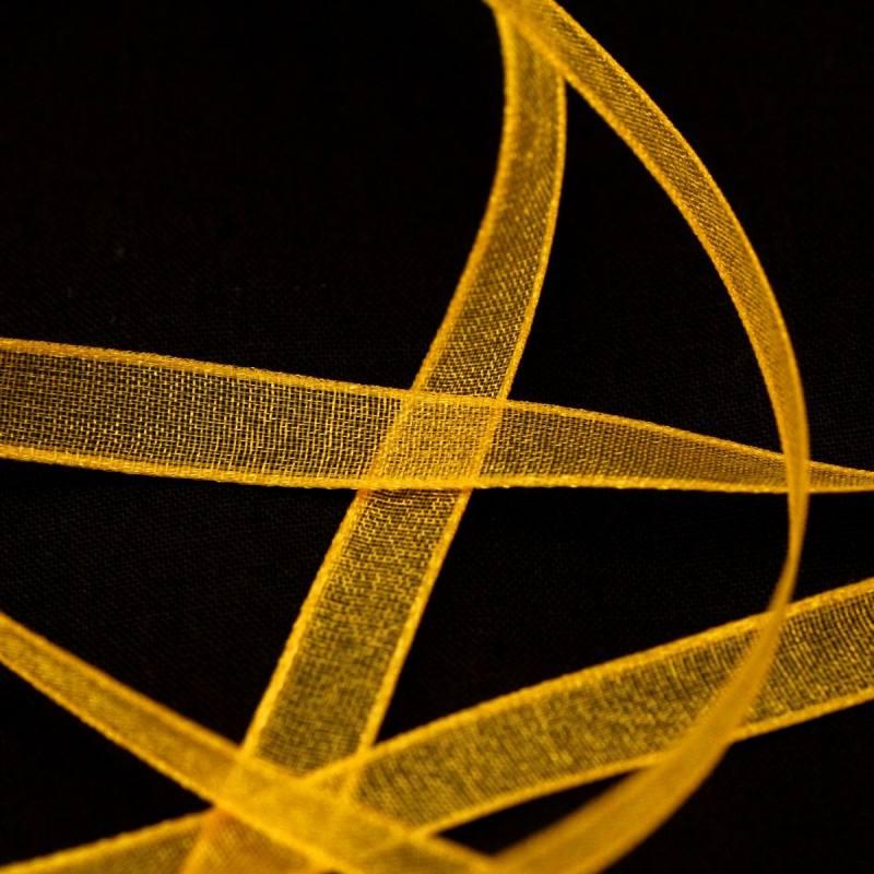 Ruban de mousseline 6mm - jaune blé