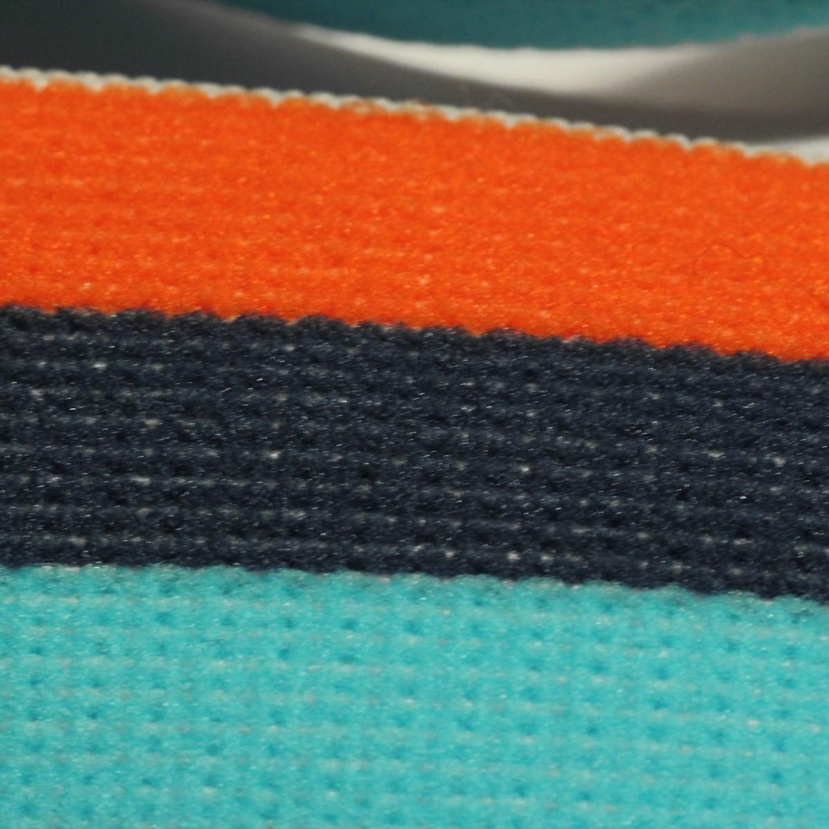 ad779bed9417 Mercerie - Bobine de 25 m d élastique 30 mm coloré bleu ciel, bleu marine et  orange
