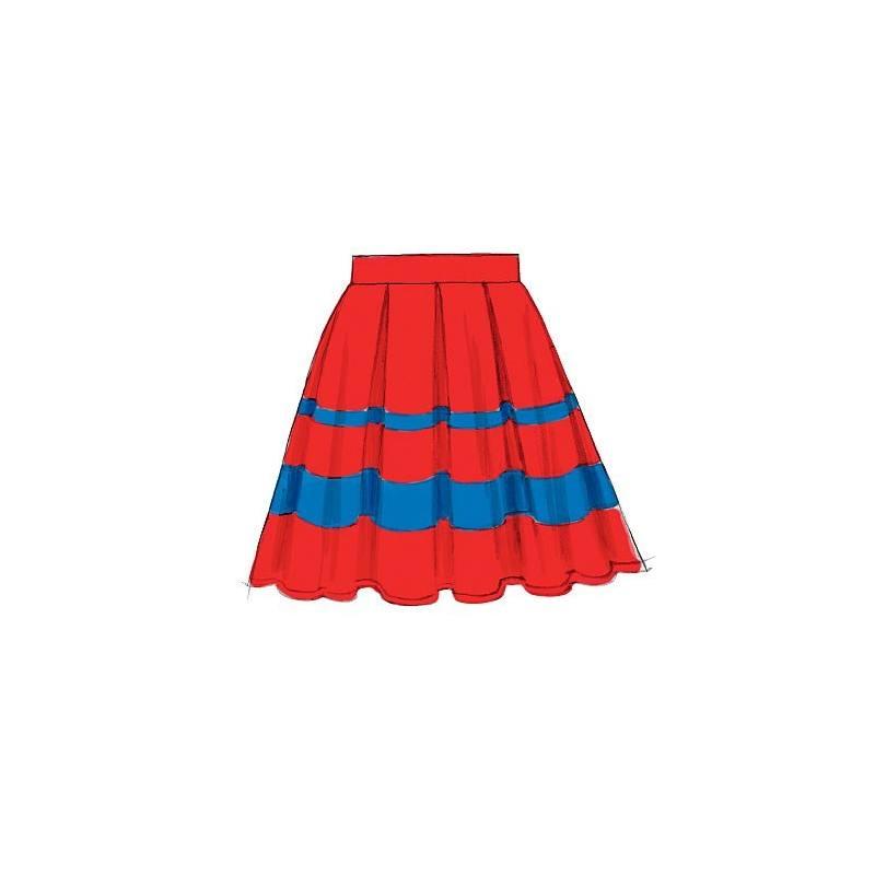 Patron de jupes et jupon - McCall's 6706 Taille : 42 à 50