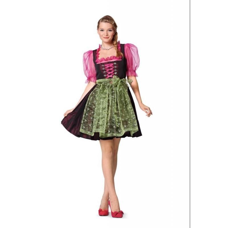 Patron Burda N°7057 style : Robe folklore Taille : 32 à 46