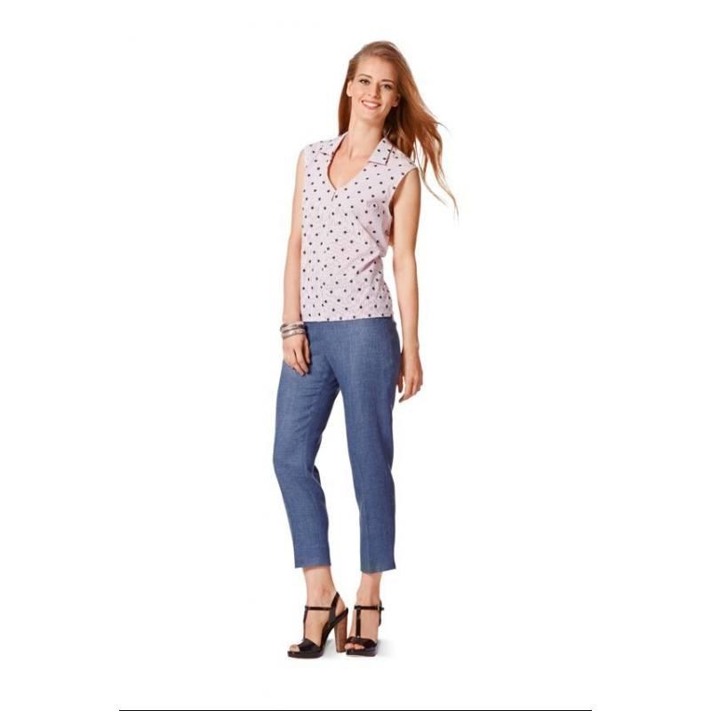 Patron Burda N°7058 style : Pantalons dames Taille : 17 à 24 ans
