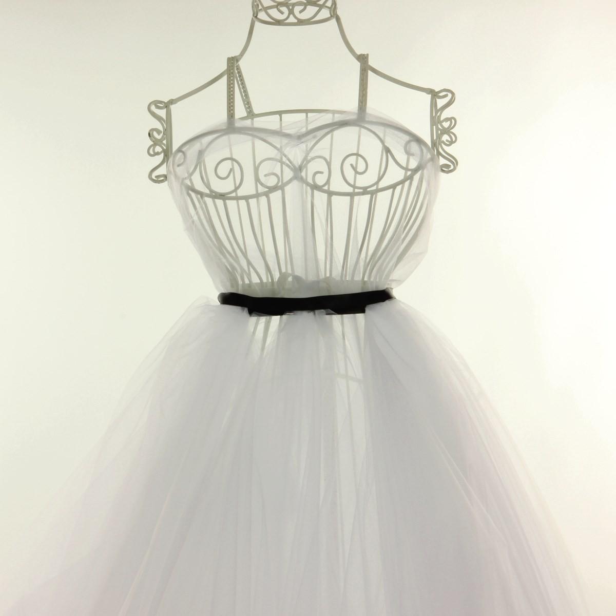 Tulle blanc pour robe de mariée grande largeur