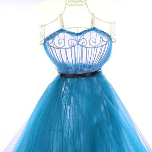 Tulle turquoise pour robe de mariée grande largeur