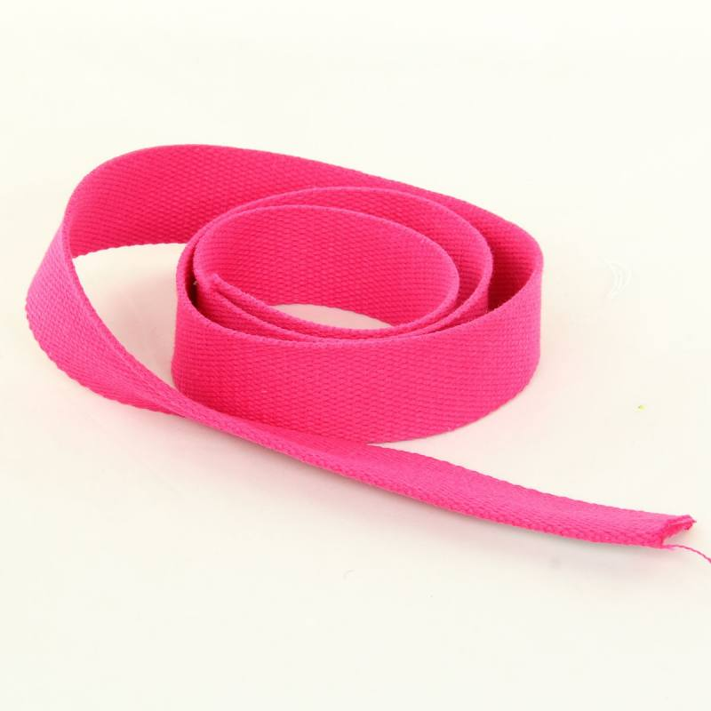 Sangle Coton 30mm fuschia