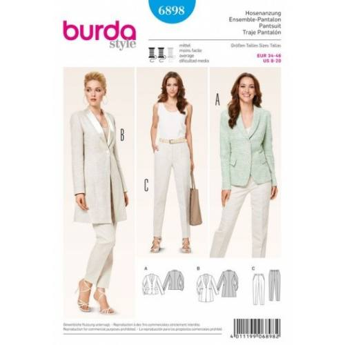Patron Burda 6898 : Ensemble-Pantalon 34-46
