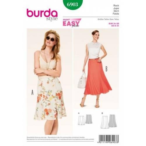 Patron Burda 6903 : Jupe 34-50