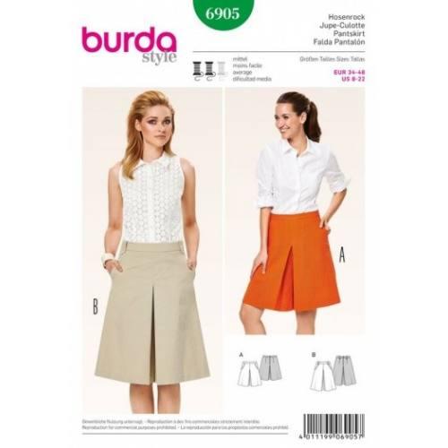 Patron Burda 6905 : Jupe-Culotte 34-48