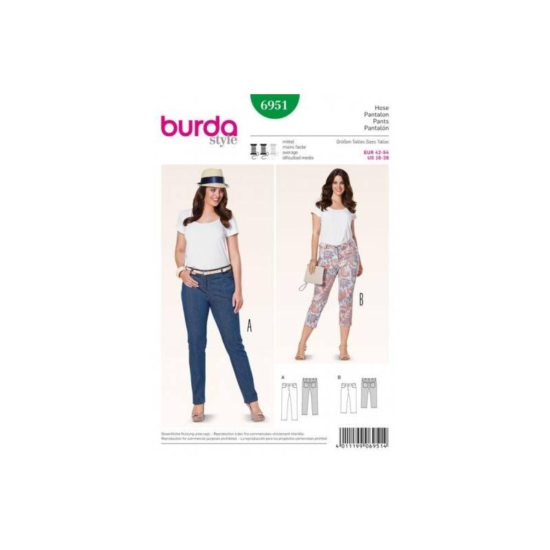 Patron Burda 6951 : Pantalon 42 à 54