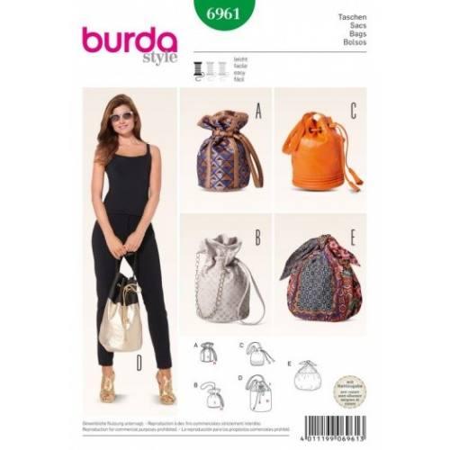 Patron Burda 6961 : Sacs