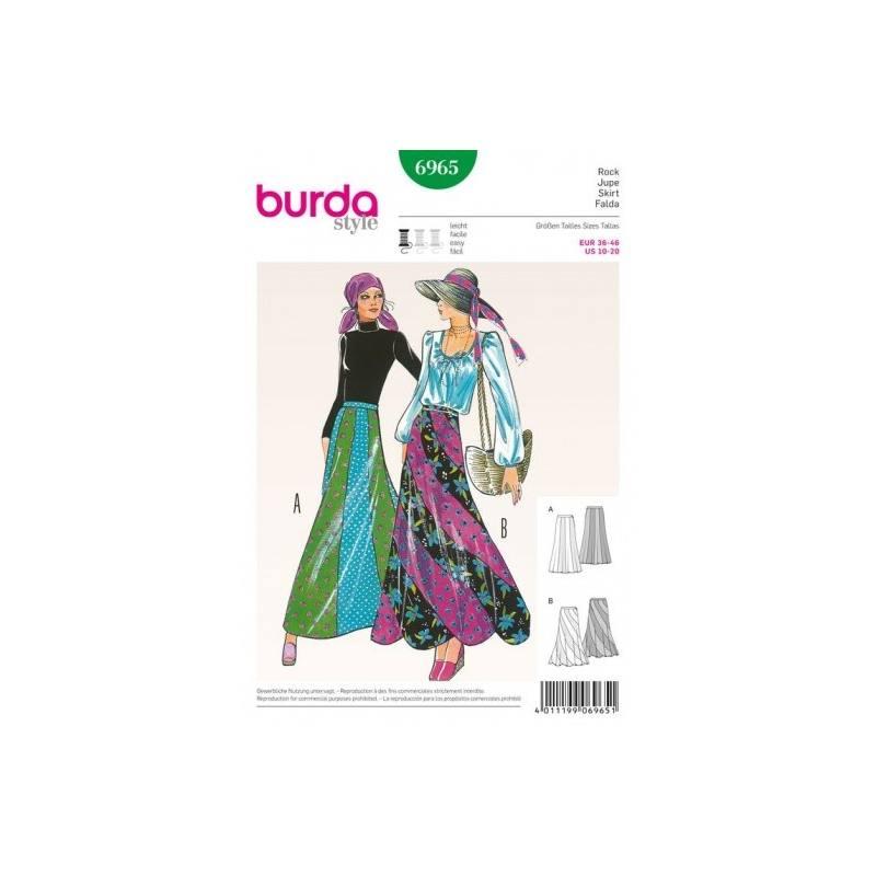 Patron Burda 6965 : Jupe 36 à 46