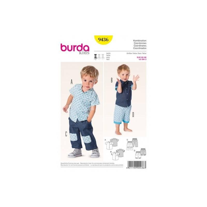Patron Burda N°9436 : Coordonnés petit garçon 6 mois à 3 ans
