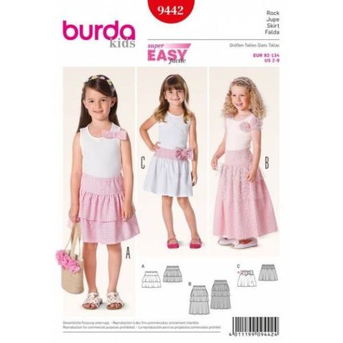 Patron Burda 9442 : Jupe 2 ans à 9 ans