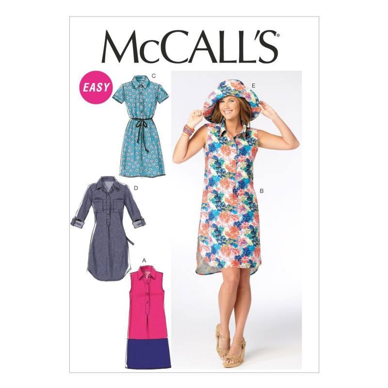 Patron McCall's M6885 : Robes et chapeau T44 à 52