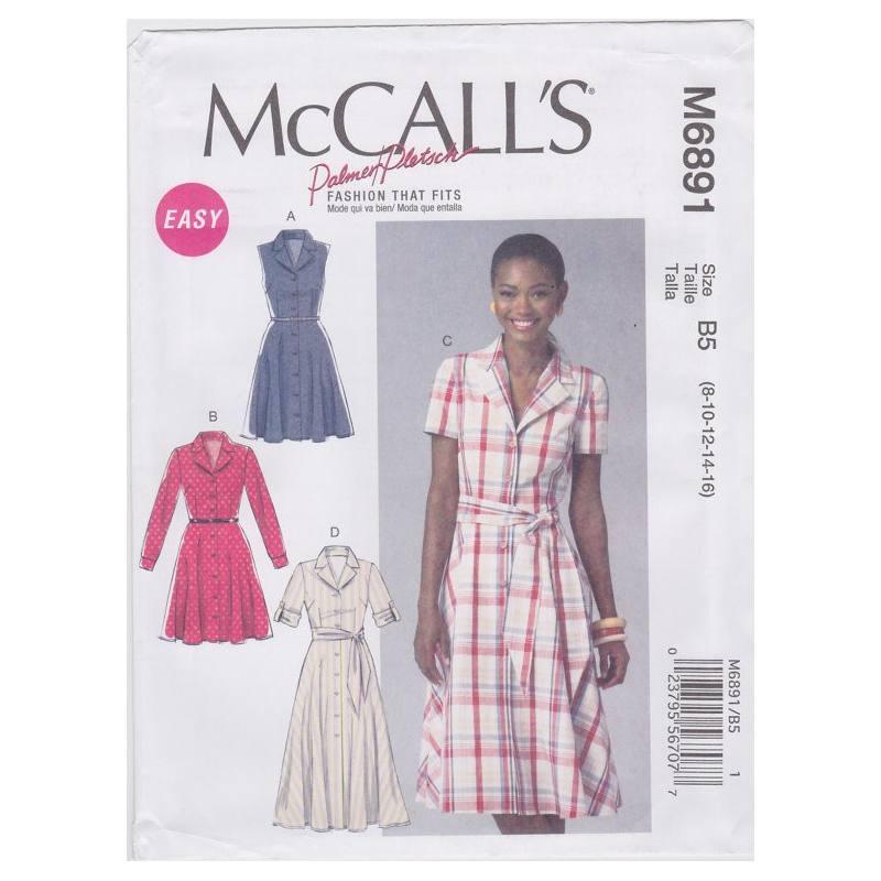 Patron McCall's M6891 : Robes T36 à 44
