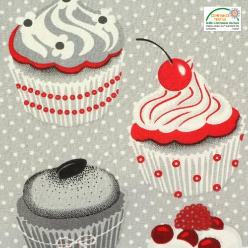 Coton gris décoration de cuisine cupcakes
