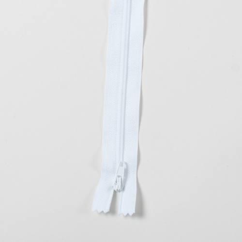 Fermeture 45 cm Polyester non séparable blanc 101