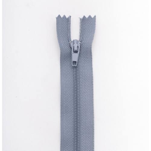 Fermeture 55cm polyester non séparable gris col 170