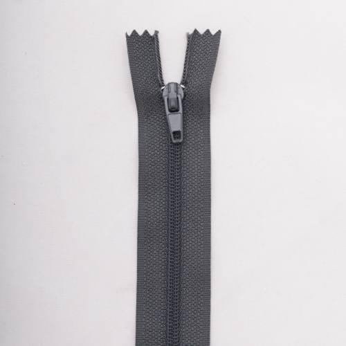 Fermeture 30cm Polyester non séparable gris col 173