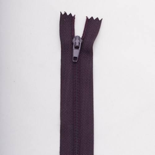 Fermeture 30cm polyester non séparable violet col 181