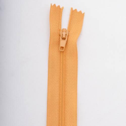 Fermeture 35 cm polyester non séparable jaune Col 108