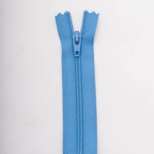 Fermeture 45 cm polyester non séparable bleu col 143