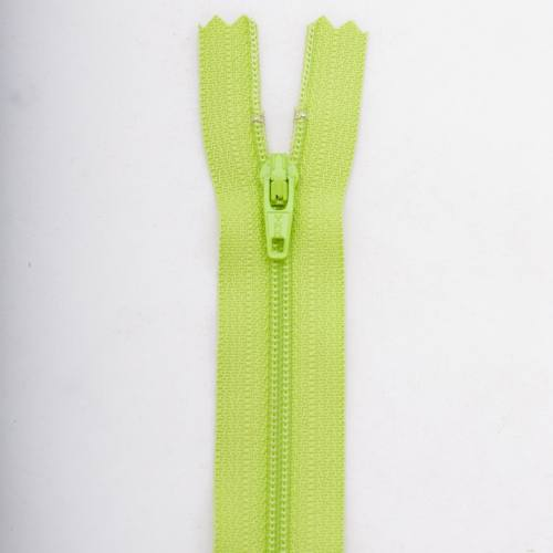 Fermeture 45 cm Polyester non séparable vert col 177