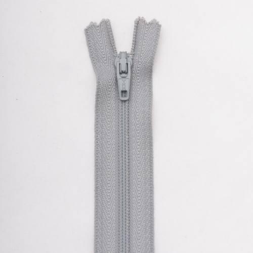 Fermeture 45 cm Polyester non séparable gris col 168