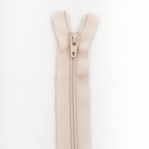 Fermeture 20 cm polyester non séparable beige col 155