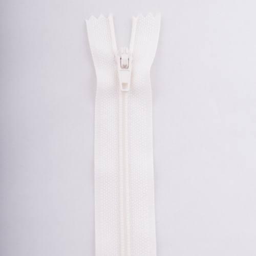Fermeture 20 cm polyester non séparable écru col 154