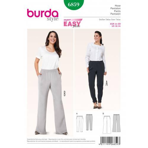 Patron Burda 6859 : Pantalon T44 à 60