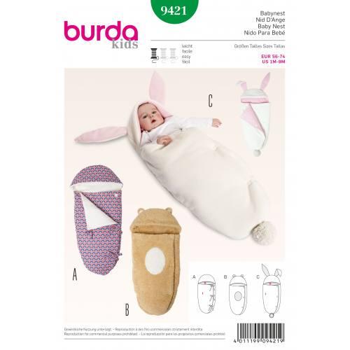 Patron Burda 9421 : Nid d'ange T56 à 74