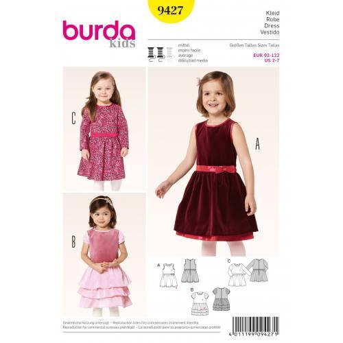 Patron Burda 9427 : Robe T92 à 122