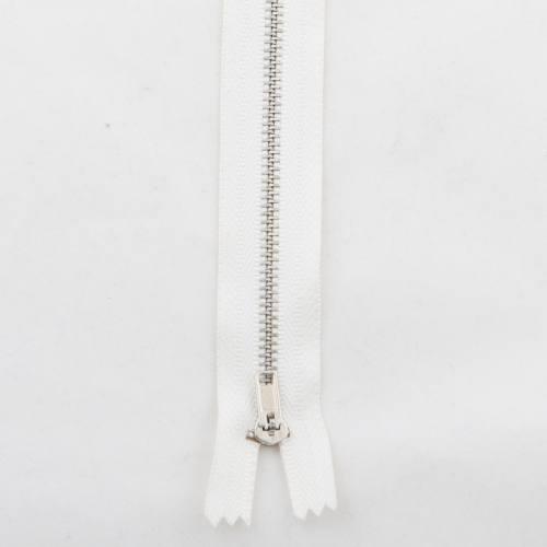 Fermeture pantalon 20 cm métal non séparable écru Col 154
