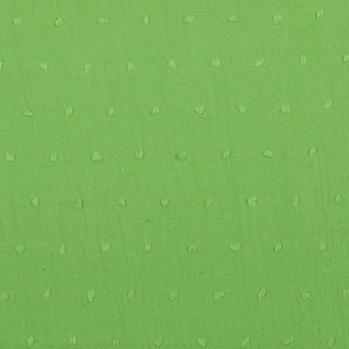 Voile de coton plumetis vert pomme