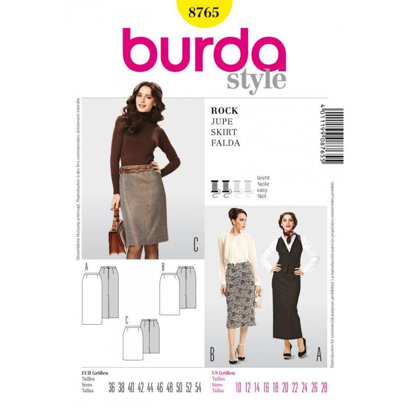Patron N°8765 Burda style : Jupe Taille : 36-54