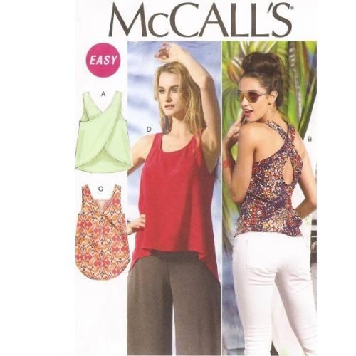 Patron McCalls M6751 : Haut Taille : XS-S-M