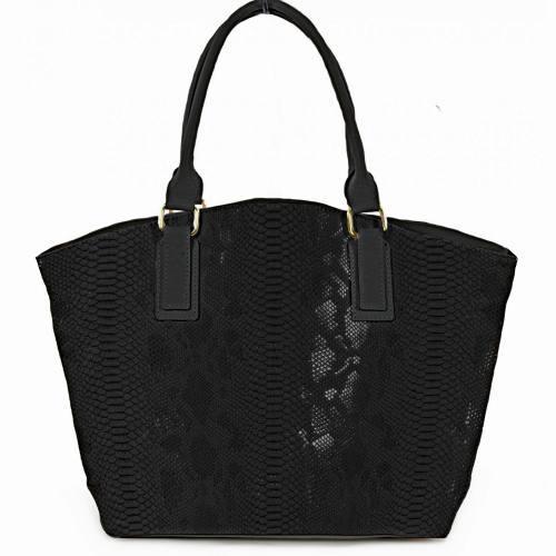 Simili cuir Dragon noir