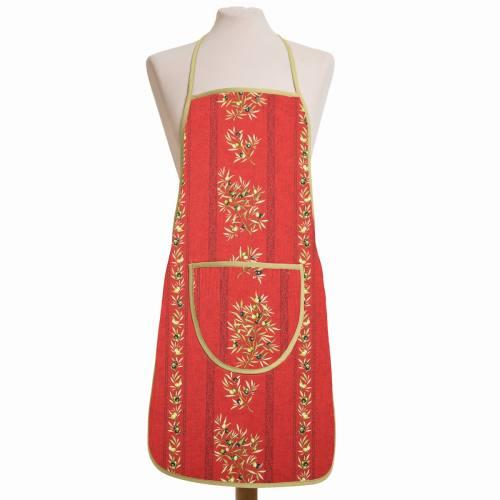 Tissu provençal rouge Clos des oliviers