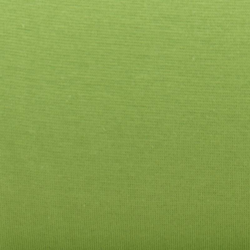 Tissu tubulaire bord-côte vert anis