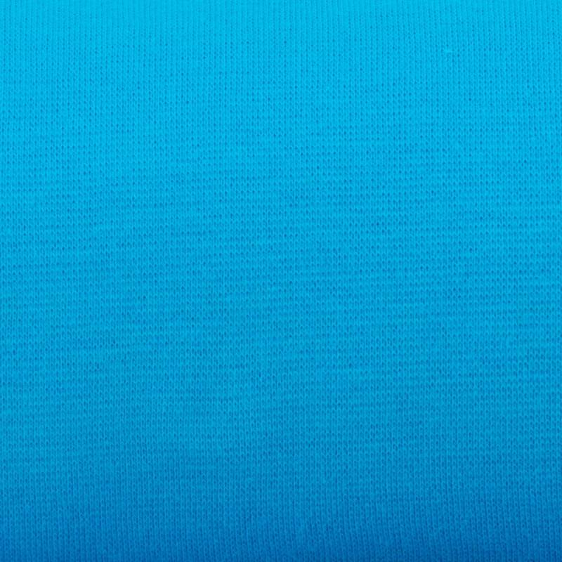 Tissu tubulaire bord-côte bleu clair