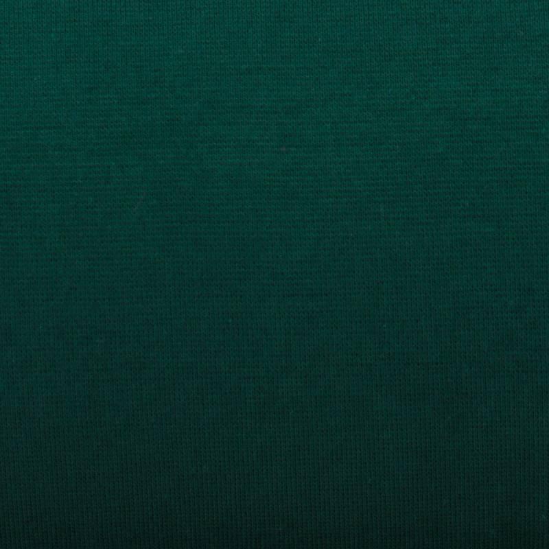 Tissu tubulaire bord-côte vert foncé