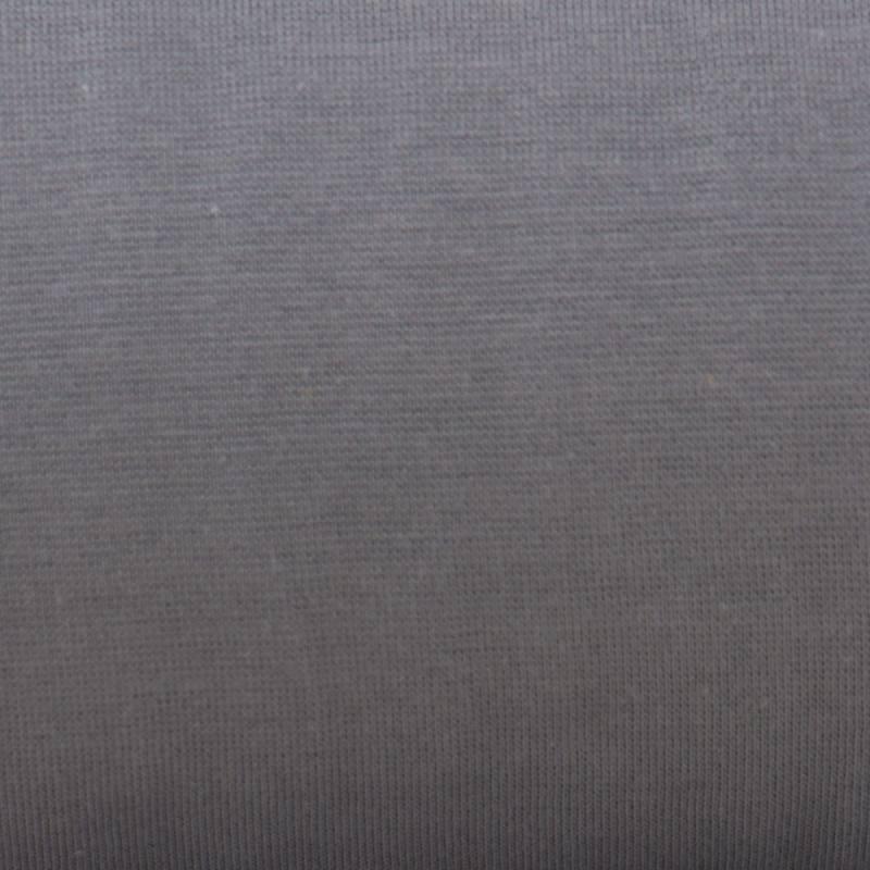 Tissu tubulaire bord-côte gris